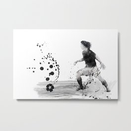 Soccer Player 8 Metal Print