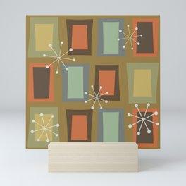 Mid Century Modern Art 'Wonky Doors' Mini Art Print