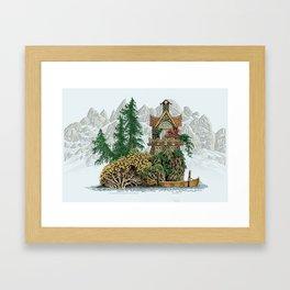 MY ISLAND RETREAT BEYOND MOUNT SHUKSAN Framed Art Print
