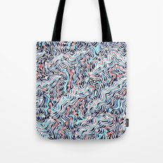 black topography Tote Bag