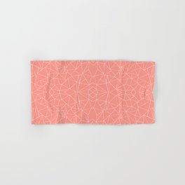 Abstract Collide Coral Hand & Bath Towel