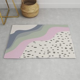 Abstract Falling Color Wave with Speckles Rug