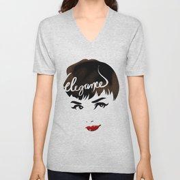 Bombshell Series: Elegance - Audrey Hepburn Unisex V-Neck