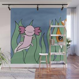 Axolotl Finds a Friend Wall Mural