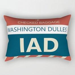 IAD Washington Dulles Airline Baggage Tag Rectangular Pillow