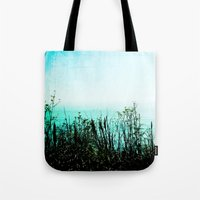big sur Tote Bags featuring Big Sur by Mermaid's Coin Surf Art * by Hannah Kata