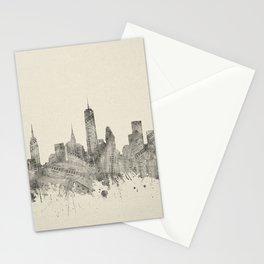 new york skyline music 2 Stationery Cards