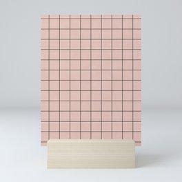 Small Grid Pattern - Pale Pink Mini Art Print