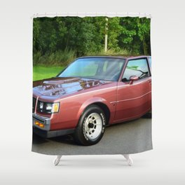Rare 1987 GM Rose colored Grand National Regal T-Type Turbo Shower Curtain