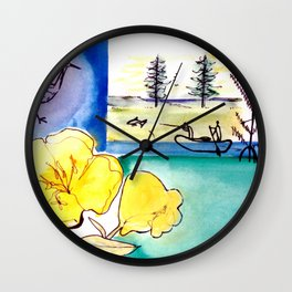 MICMAC Indian Legend, CANADA          by Kay Lipton Wall Clock