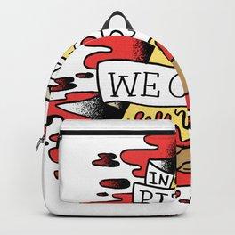 In Pizza We Crust - Food Illuminati (no backgorund) Backpack