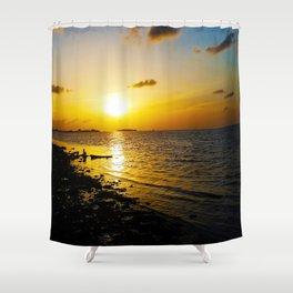 Seashore Serenity at Sunset Shower Curtain