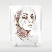 obey Shower Curtains featuring Obey by Bruno Gonçales