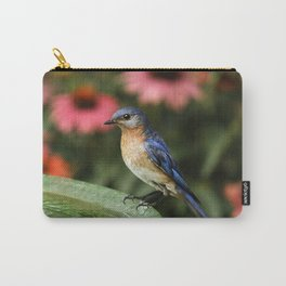 Perched Eastern  BlueBird Carry-All Pouch