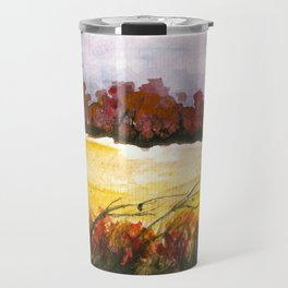 Whispering Grove, Watercolor Landscape Art Travel Mug