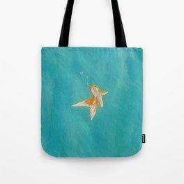 Goldfish in the ocean Tote Bag