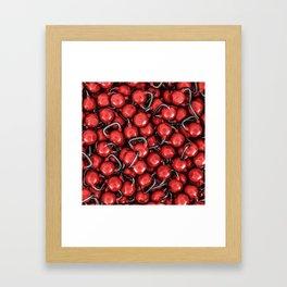Kettlebells RED Framed Art Print