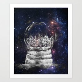 Magical Winter Snow globe Art Print