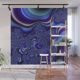 Fractal Art-Blue and Purple Infinity Wall Mural