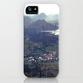 Fields outside Hobart iPhone Case