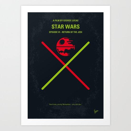 No156 My STAR Episode VI Return of the Jedi WARS minimal movie poster Art Print