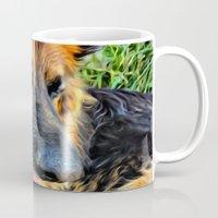megan lara Mugs featuring Dog Lara by itsme23