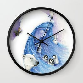 Lady Winter / Dame Hiver Wall Clock