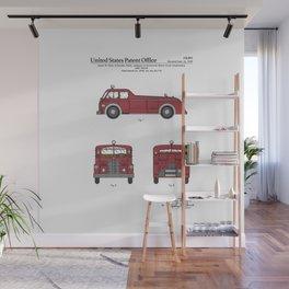 Firetruck Patent Wall Mural