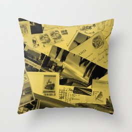 Postcards Throw Pillow