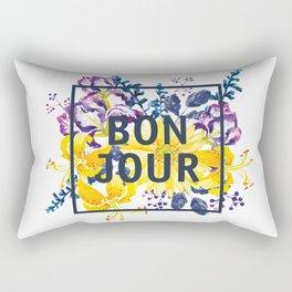 Bonjour floral print Rectangular Pillow