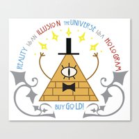 bill cipher Canvas Prints featuring Bill Cipher by Grace T