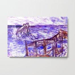 Stormy Brighton Metal Print