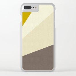 Triangular bands Clear iPhone Case