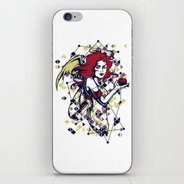 Devilish Angel Winged Woman iPhone Skin