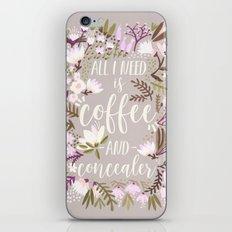 Coffee & Concealer – Spring Palette iPhone & iPod Skin