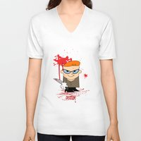dexter V-neck T-shirts featuring Dexter by Gianluca Gentile
