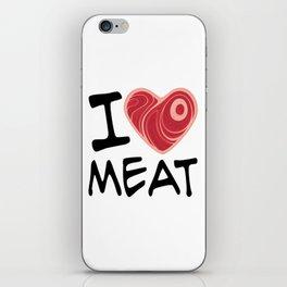 I Love Meat iPhone Skin