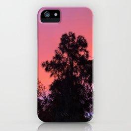 Pretty orange sunset iPhone Case