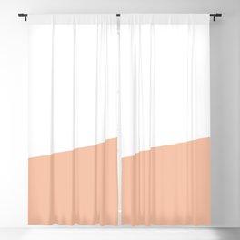 Stripe Block (peach/white) Blackout Curtain