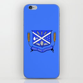 Give Us Beer College Emblem with Latin Script iPhone Skin