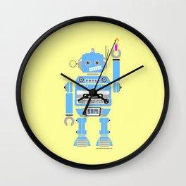 80s Mix Tape Robot - Sam Wall Clock