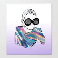 holographic Canvas Prints featuring Holographic by Fatima khayyat