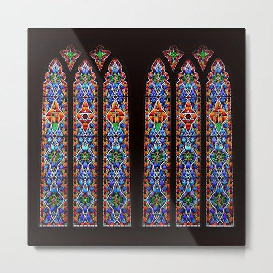 Mary's Mountain Windows Metal Print