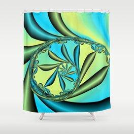 River Vine Fractal Shower Curtain
