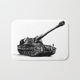 AS90 self-propelled gun Bath Mat