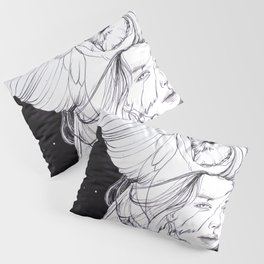 Woman with Owl Familiar Pillow Sham