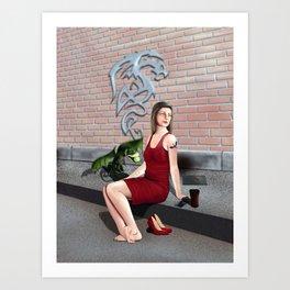 Suburban Life Art Print