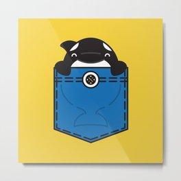 Pocket Whale Metal Print