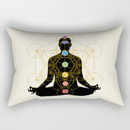 Sacred Geometry Metatron's Cube Chakra Meditation Rectangular Pillow