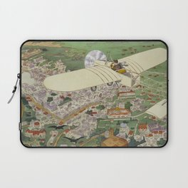 Beaumont the winner in Bleriot monoplane, Gnome engine, Bosch magneto Laptop Sleeve